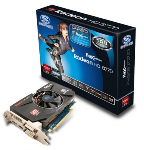 Sapphire Radeon HD 6770 fleX 1GB Graphics Card